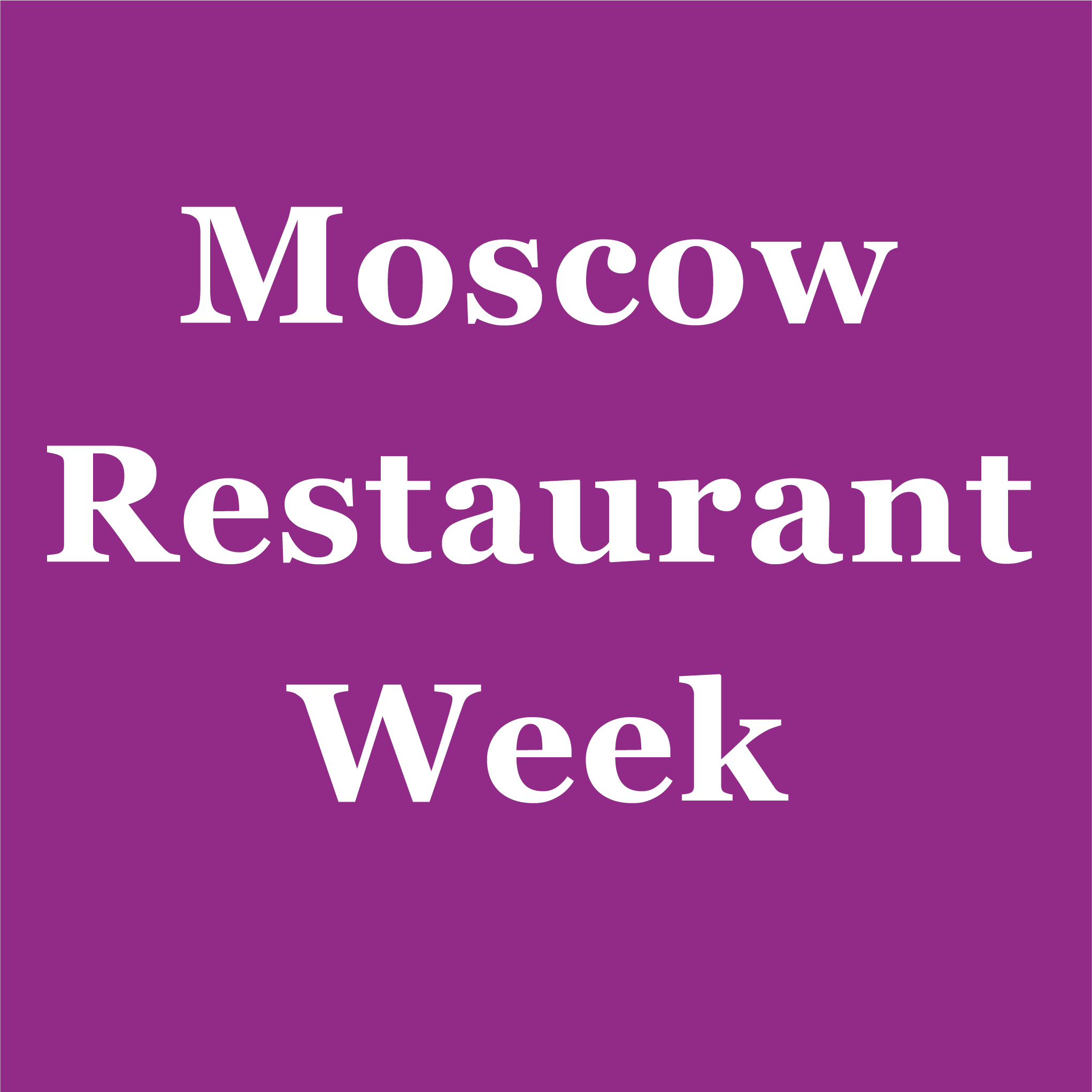 Moscow Restaurant Week 2018