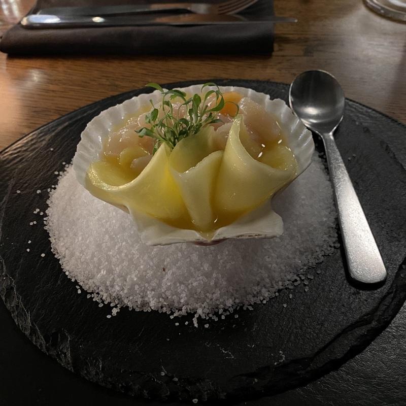 Севиче из морского гребешка с манго