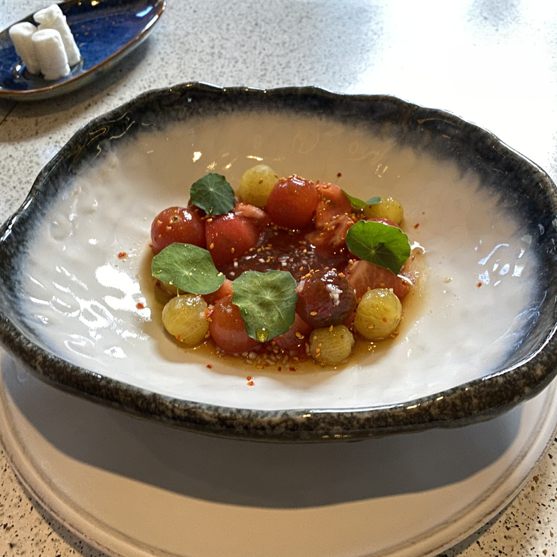 НЕгаспачо из сезонных томатов в соусе шисо